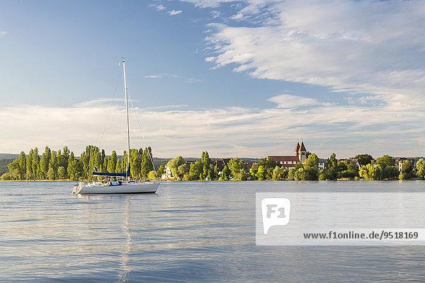 Abendstimmung  St. Peter und Paul  Insel Reichenau  Bodensee  Baden-Württemberg  Deutschland  Europa