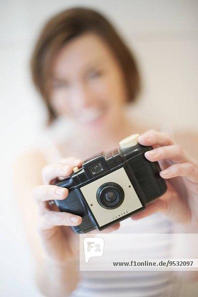 Frau Fotografie nehmen
