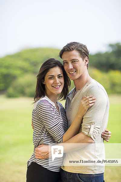 Smiling young couple together
