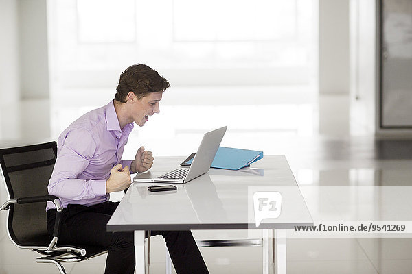 Stressed man in office