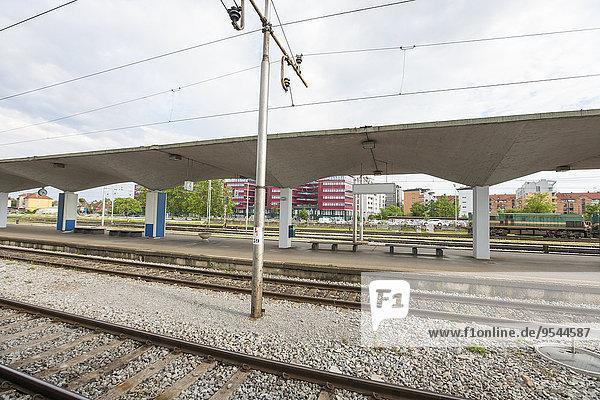 Railway station at Zagreb  Croatia