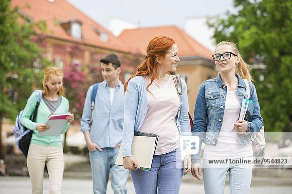 Freundschaft gehen Straße jung Universität