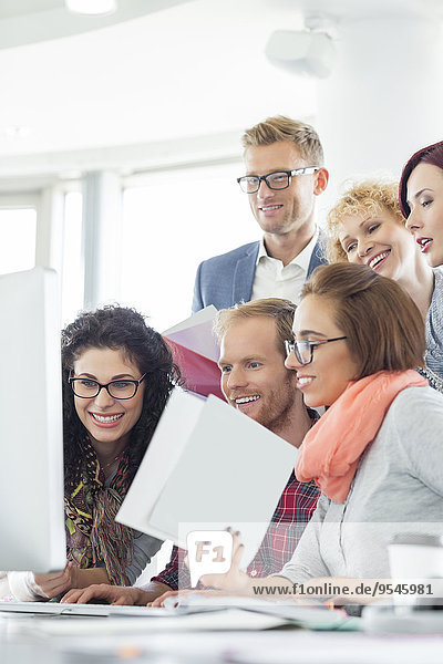 benutzen Computer Mensch Kreativität Büro Menschen Business