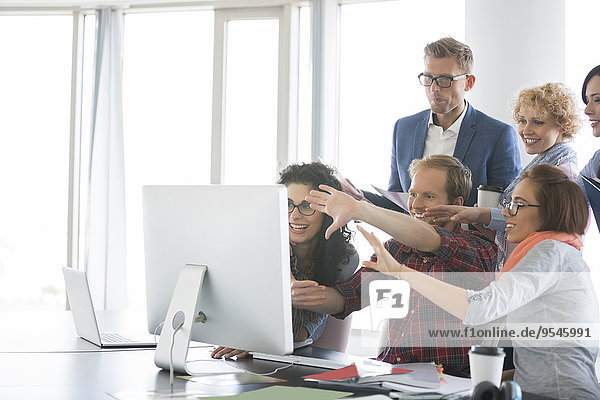 benutzen Computer Mensch Büro Menschen Business