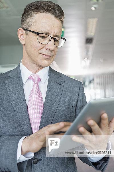 benutzen Computer reifer Erwachsene reife Erwachsene Geschäftsmann Büro Tablet PC