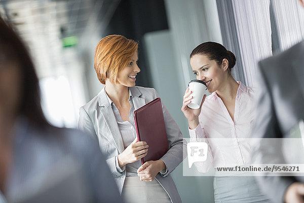 Korridor Korridore Flur Flure Geschäftsfrau gehen Büro