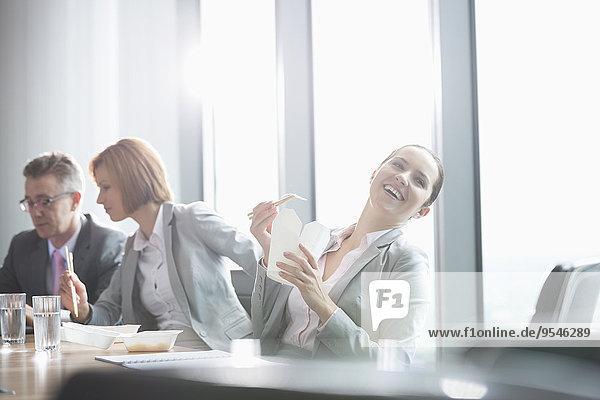 Mensch Menschen Pause Business Mittagessen