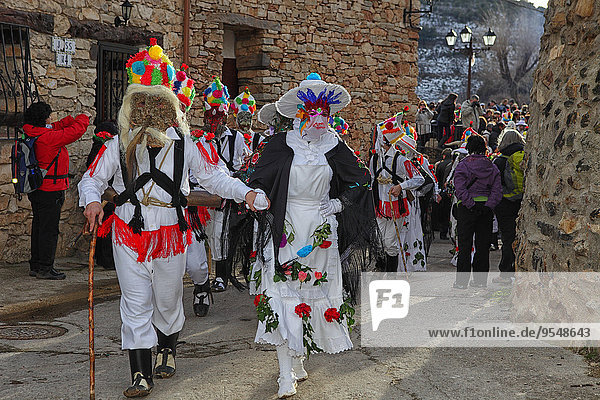 Spain  Province of Guadalajara  carnival parade in Almiruete