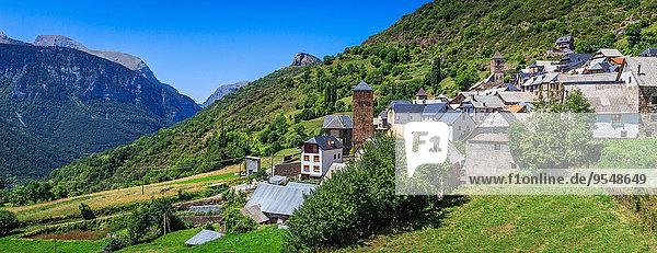 Dorf Huesca Spanien