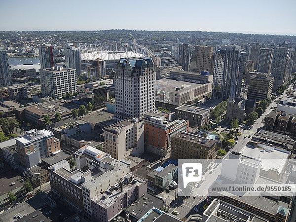 Kanada  British Columbia  Vancouver  Blick vom Lookout Tower auf die Stadt