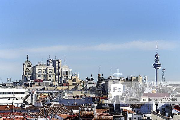 Spanien  Madrid  Blick von der Almudena Kathedrale Richtung Osten