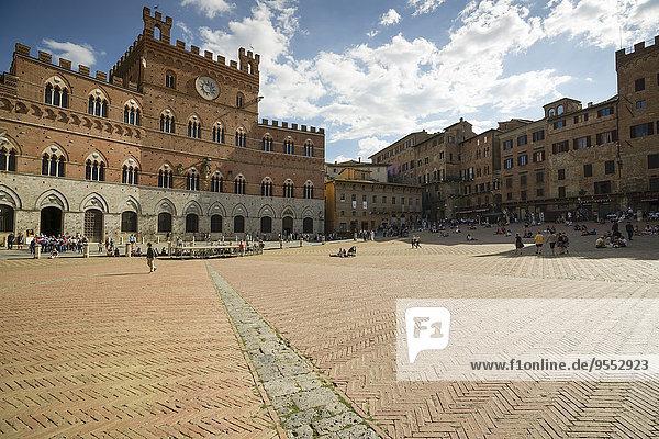 Italien  Toskana  Siena  Piazza del Campo