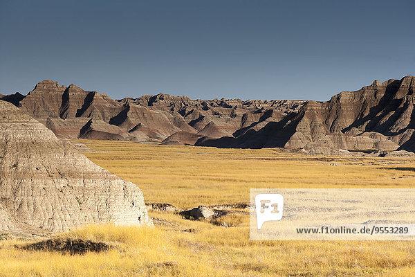 USA  South Dakota  Badlands Nationalpark  Landschaft