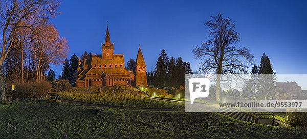 Germany  Lower Saxony  Goslar  Stave church at Hahnenklee-Bockswiese Germany, Lower Saxony, Goslar, Stave church at Hahnenklee-Bockswiese