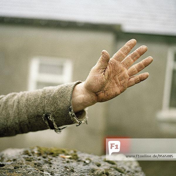 Eine Seniorenhand