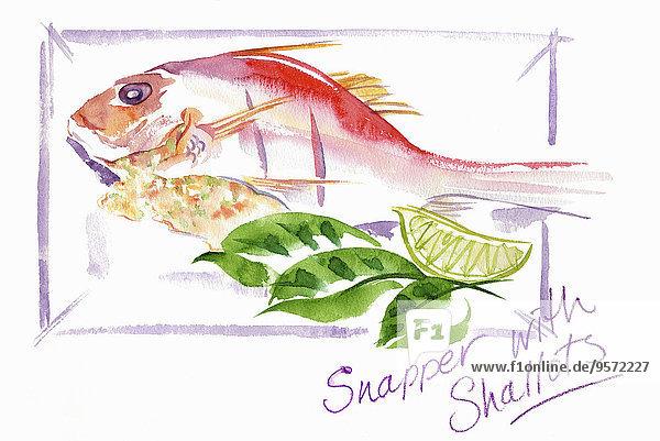Fischgericht mit Schalotten