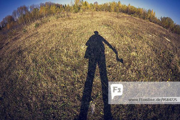 Fisheye Mann Schatten Feld Ansicht Blendenfleck lens flare