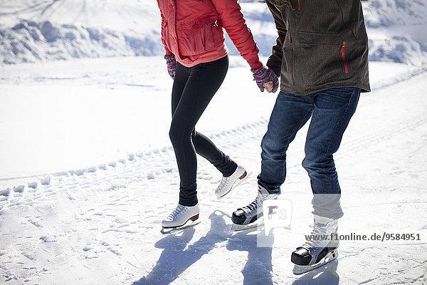 Europäer Schnee See Eis gefroren