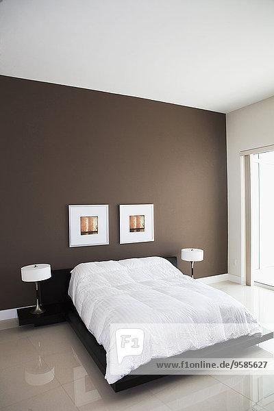 Schlafzimmer Bett Lampe modern