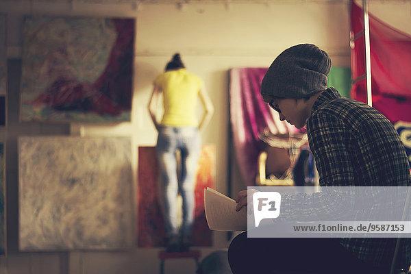 Europäer arbeiten Künstler Studioaufnahme