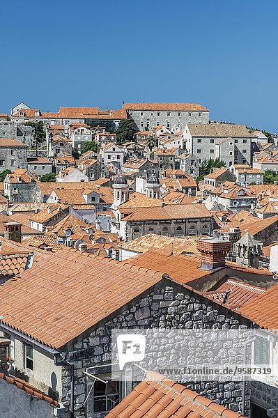 Dach Hügel Großstadt Kroatien Dubrovnik