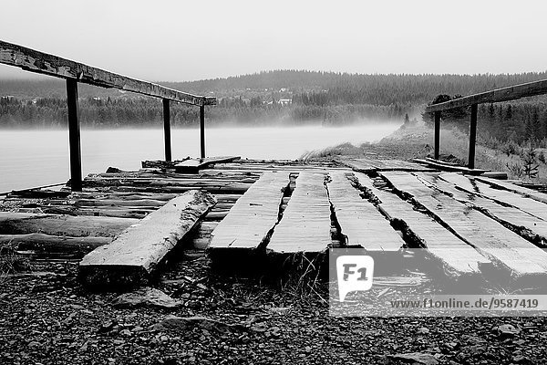Wooden planks on platform on beach