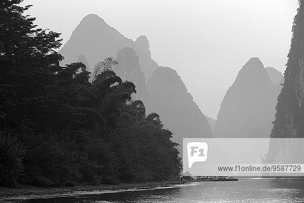 China  Guangxi  mountains at Li river