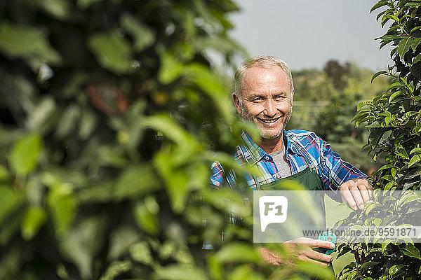 Porträt von Gärtnerpflanzen in einem Park
