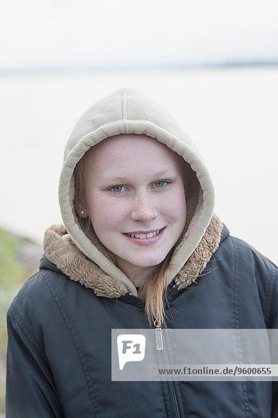 Smiling teenage girl