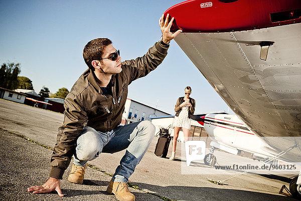 Flugzeug Prüfung Pilot Propeller