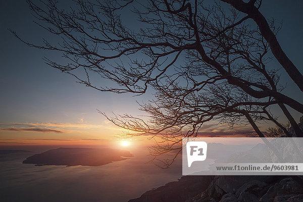 Nationalpark Sonnenuntergang Küste Kroatien