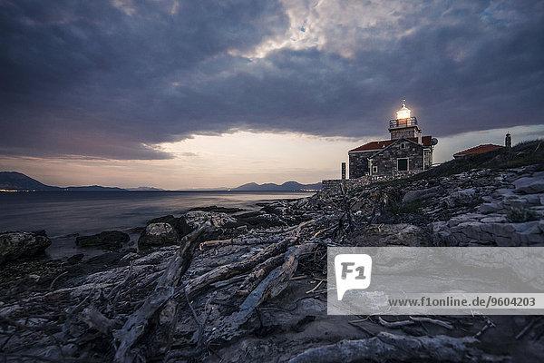 Küste Leuchtturm Kroatien Dalmatien