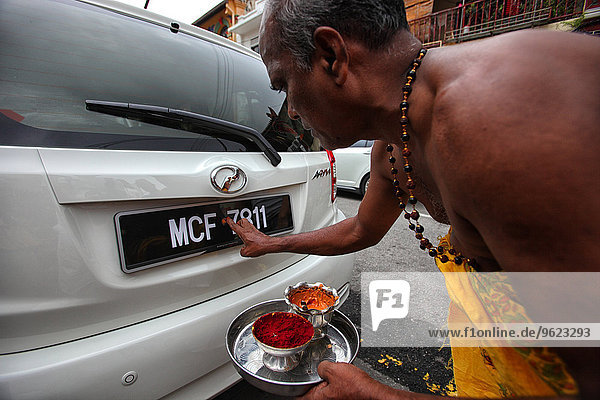 Malaysia  monk blessing new car