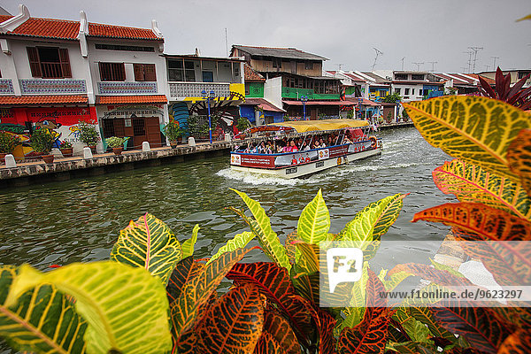 Malaysia  Malacca city  tourist boat on river