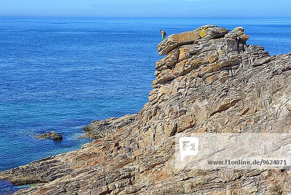 Frankreich  Bretagne  Cote Sauvage auf der Halbinsel Qiberon