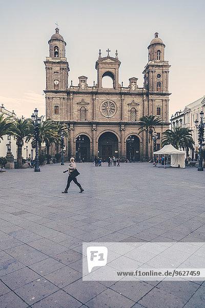 Spanien  Kanarische Inseln  Gran Canaria  Las Palmas  Plaza und Catedral de Santa Ana Spanien, Kanarische Inseln, Gran Canaria, Las Palmas, Plaza und Catedral de Santa Ana