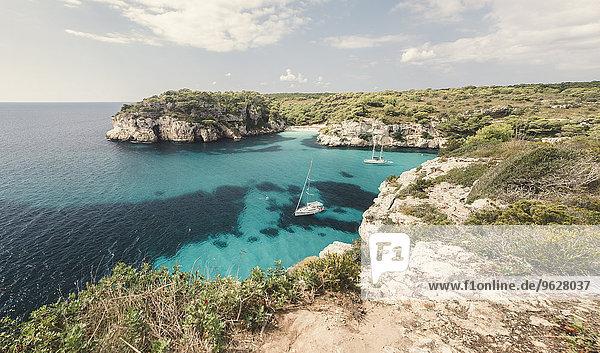 Spanien  Balearen  Menorca  Macarella Bucht mit Cala Macarelleta Spanien, Balearen, Menorca, Macarella Bucht mit Cala Macarelleta