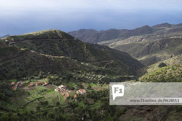 Spanien  Kanarische Inseln  La Gomera  Vallehermoso  Blick auf Epina