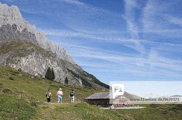 Österreich  Salzburger Land  Mühlbach  Hochkönigmassiv  Almhütte