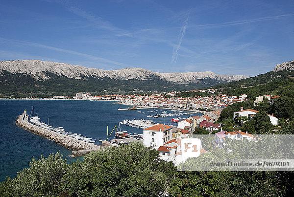 Kroatien  Kvarner Golf  Baska  Stadtbild