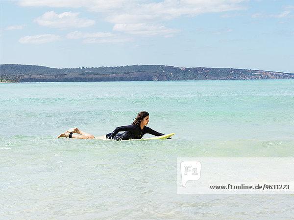 Surfer in sea  Roadknight  Victoria  Australia