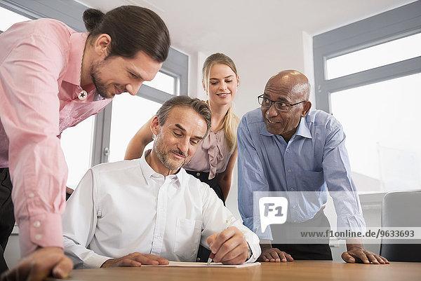 Planning woman men office Brainstorming concept