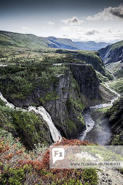 Wasserfall  Voringfossen  Hardangervidda  Norwegen  Europa