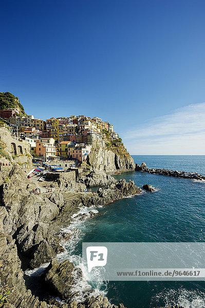 Ortsansicht  UNESCO Welterbe  Manarola  Cinque Terre  Ligurien  Italien  Europa