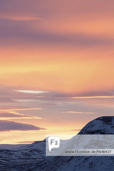 Abendrot  Dovrefjell-Sunndalsfjella-Nationalpark  Norwegen  Europa