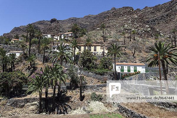 Bergdorf El Guro  Valle Gran Rey  La Gomera  Kanarische Inseln  Spanien  Europa