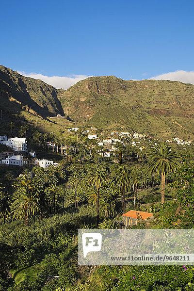 Dorf Los Granados  Valle Gran Rey  La Gomera  Kanarische Inseln  Spanien  Europa