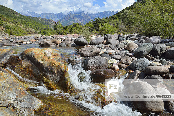 Landscape on the river Fango  Fango valley  Haute-Corse  Corsica  France  Europe
