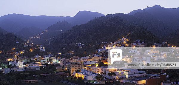 Ortsansicht,  Vallehermoso,  La Gomera,  Kanarische Inseln,  Spanien,  Europa