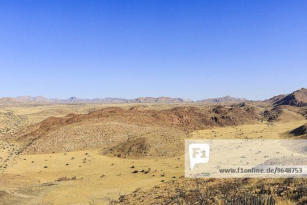 Seitental vom Swakop-Trockenfluss  Farm Tsaobis  Namib-Wüste  Namibia  Afrika